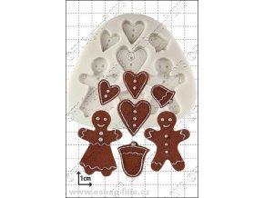 Gingerbread People silikonová forma D030