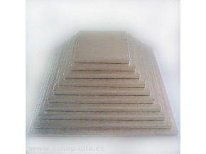 Vyšší dortová stříbrná podložka čtverec FC617VK 17cm