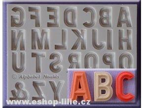 Velká abeceda Bevelled Font silikonová forma AM0238