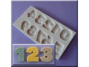 Textured Numbers silikonová forma na číslice AM0250