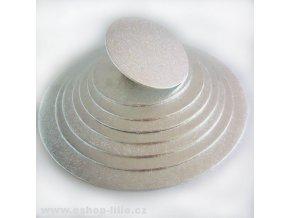 Stříbrná dortová kruhová podložka 30cm FC930RD