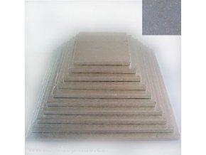Dortová stříbrná podložka čtverec 27cm x 1,2cm FC627VK