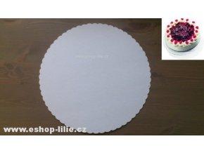 Papírová podložka pod dort 25cm 10 ks