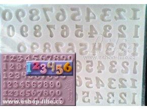 Číslice 1,2 cm set šesti druhů AMO174 silikonová forma