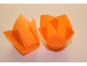 Oranžové cukrářské tulipánové košíčky 50ks