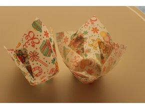 Vánoční tulipánové cukrářské košíčky 50ks