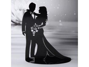Silueta svatební figurky na dort 28483